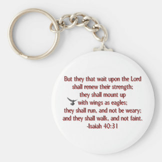 They That Wait Upon the Lord Basic Round Button Key Ring