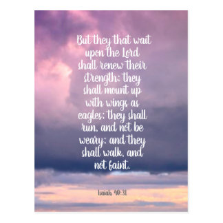 They that wait upon the Lord, Isaiah 40:31 Postcard
