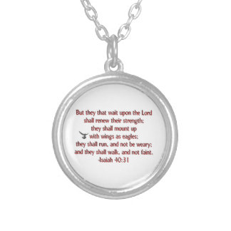 They That Wait Upon the Lord Personalized Necklace