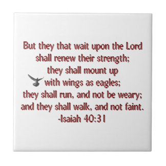 They That Wait Upon the Lord Small Square Tile