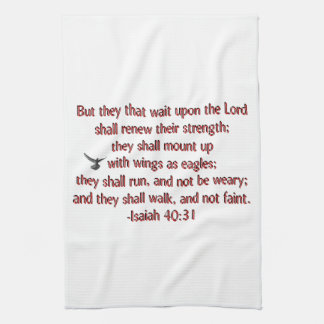 They That Wait Upon the Lord Towel