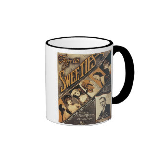 They're All Sweeties Vintage Songbook Cover Ringer Mug