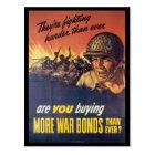 They're Fighting World War 2 Postcard