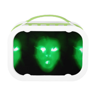 """They're Here!"" Green Yubo Lunch Box by C.L. Brown"