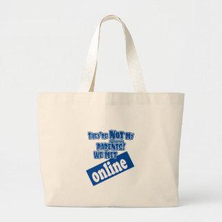 They're not my parents, we met online! jumbo tote bag