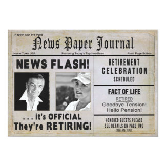 THEY'RE RETIRING Invitation  (2) PHOTOS/ NEWSPAPER