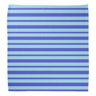 Thick and Thin Blue Stripes Bandana