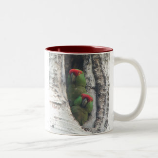 Thick-billed Parrot Mug, right-handled