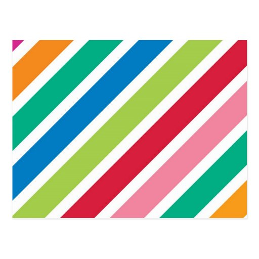 Thick Candy Stripes Postcards