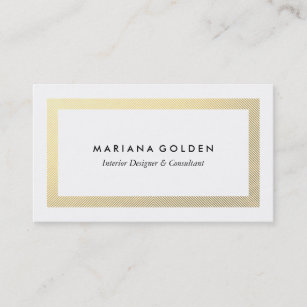 Gold border business cards business card printing zazzle uk thick gold border on white business card template friedricerecipe Images