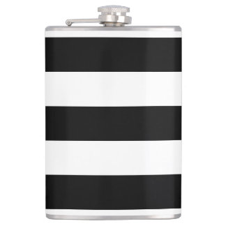 Thick Horizontal Stripes Vinyl Wrapped Flask
