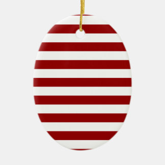 Thick Red and white lines, geometric pattern Christmas Ornament