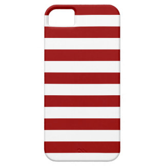 Thick Red and white lines, geometric pattern iPhone 5 Cover