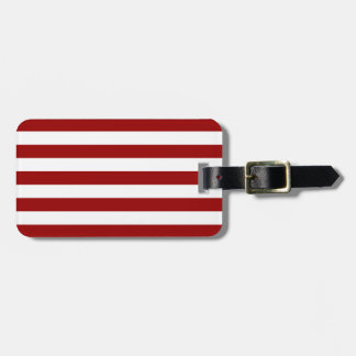 Thick Red and white lines, geometric pattern Luggage Tag