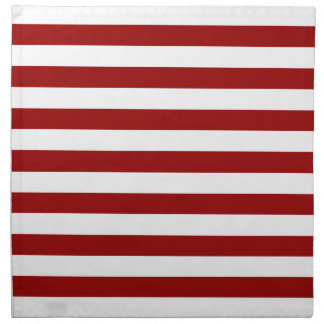 Thick Red and white lines, geometric pattern Napkin