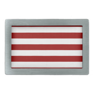 Thick Red and white lines, geometric pattern Rectangular Belt Buckle