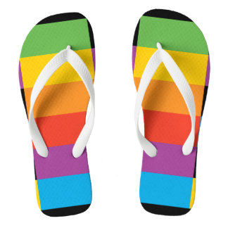 Thick slippers Adult, Straps - Geometric Design Flip Flops