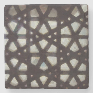 Thick stone lattice stone coaster