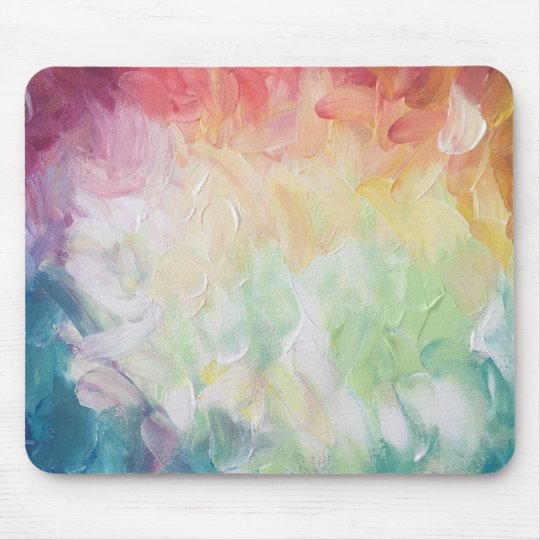 Thick Textured Abstract Paint Mouse Mat