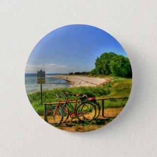 Thiessow Beach on Ruegen Island 6 Cm Round Badge