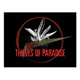 Thieves of Paradise Blades Logo Postcard