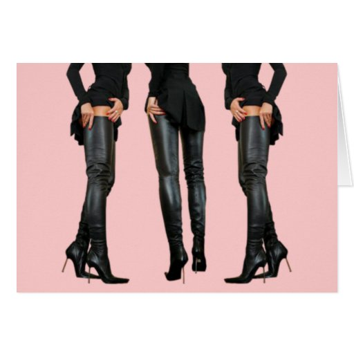 Thigh High Boot Models Cards