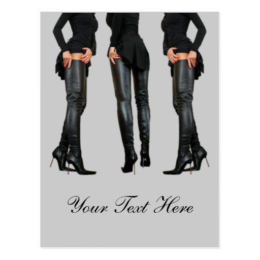 Thigh High Boot Models Post Cards
