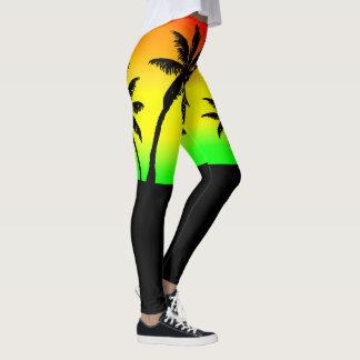 Thigh High Jamaica Red Gold Green Running Shorts Leggings