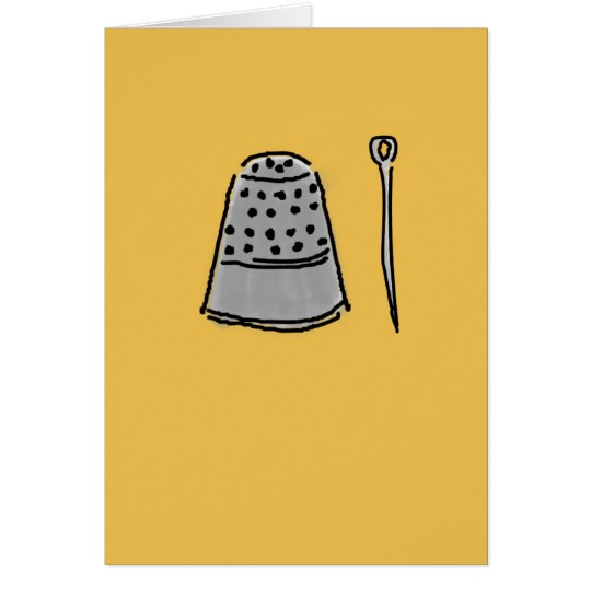 Thimble and Needle Greeting Card