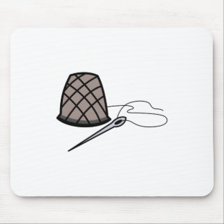 Thimble and Needle Mouse Pad