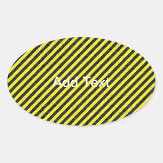 Thin Black and Yellow Diagonal Stripes Sticker