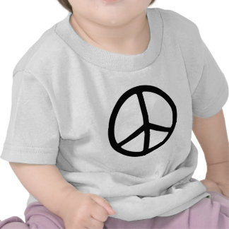 Thin Black Peace Symbol T Shirt
