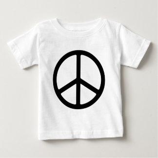 Thin Black Peace Symbol Tee Shirt