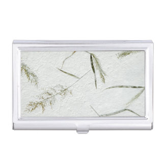 Thin blades of grass Japanese rice paper Business Card Holder