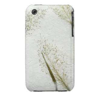Thin blades of grass Japanese rice paper iPhone 3 Cases
