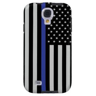 Thin Blue Flag Though Samsung Galaxy S4 Case