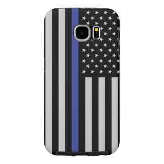 Thin Blue Flag Though Samsung Galaxy S6 Case