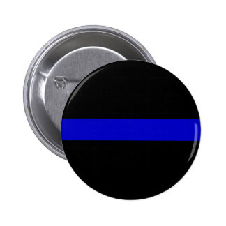 Thin Blue Line 6 Cm Round Badge