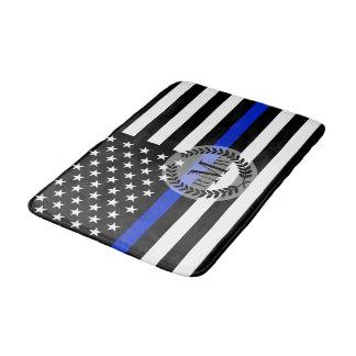 Thin Blue Line American Flag Bath Mat
