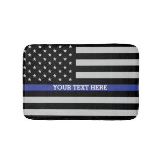 Thin Blue Line - American Flag Bath Mats