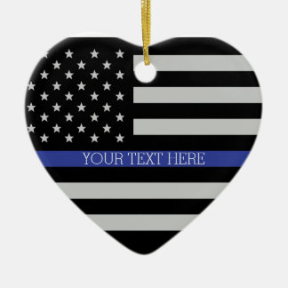 Thin Blue Line - American Flag Christmas Ornament