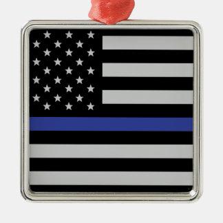Thin Blue Line - American Flag Christmas Ornament