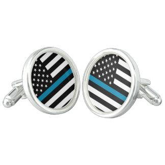 Thin Blue Line American Flag Cufflinks