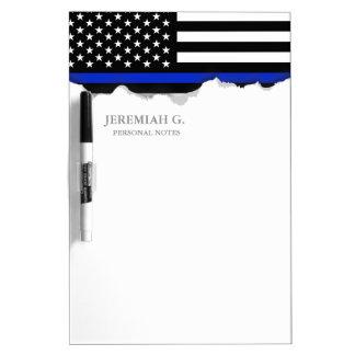 Thin Blue Line American Flag Dry Erase Board