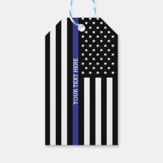 Thin Blue Line - American Flag Gift Tags