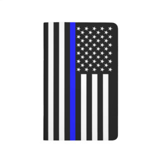 Thin Blue Line American Flag graphic on a Journal