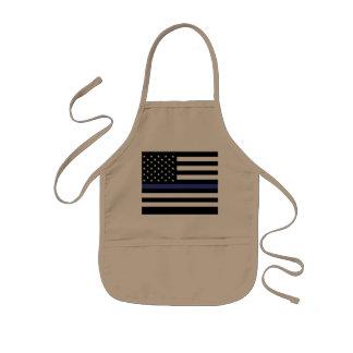 Thin Blue Line - American Flag Kids Apron