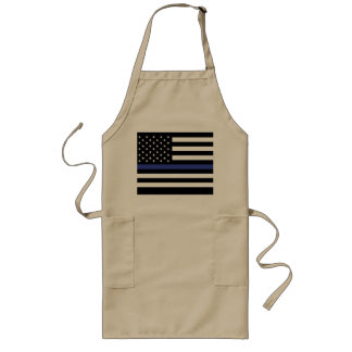 Thin Blue Line - American Flag Long Apron