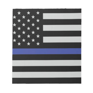 Thin Blue Line - American Flag Notepad