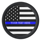 Thin Blue Line - American Flag Personalised Custom Poker Chips